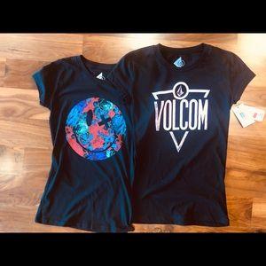 Volcom Black Shirts NWT Size XXS